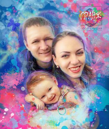 Семейный портрет в стиле ГРАНЖ в Москве…