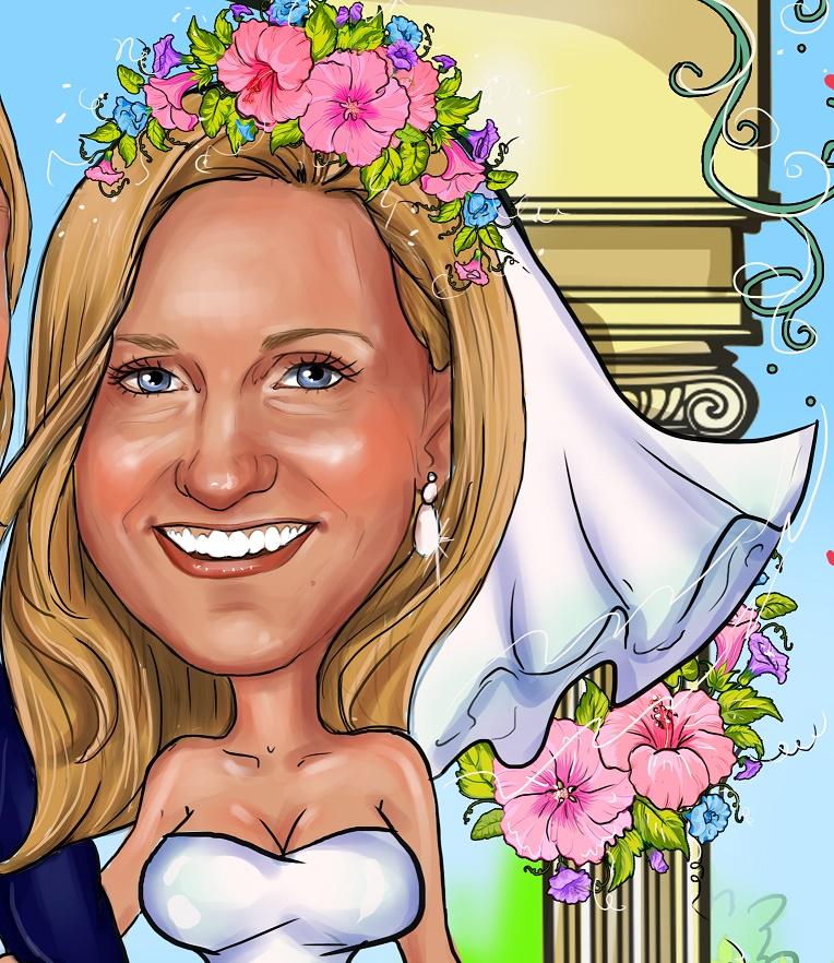 заказать свадебный шарж в москве