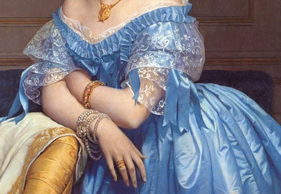 портрет на холсте в образе