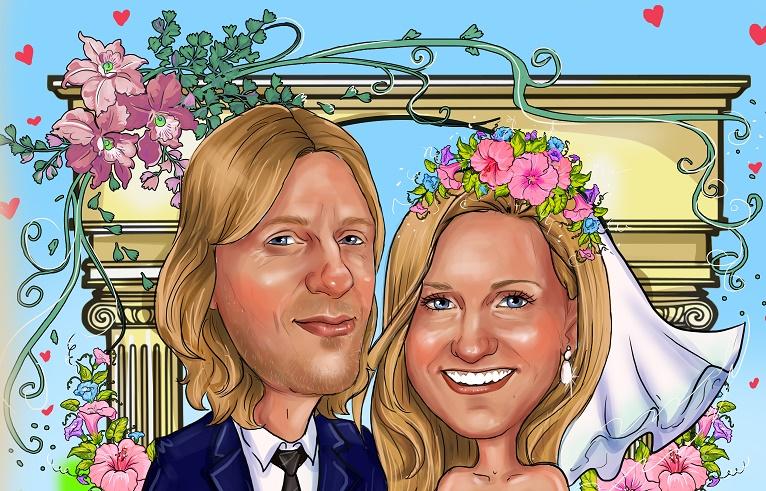 свадебный шарж на заказ в москве