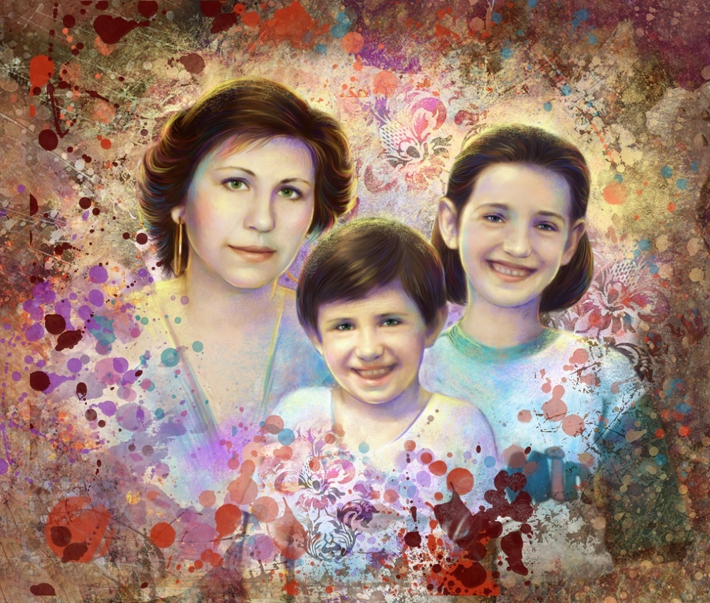 семейный портрет для мамы мск