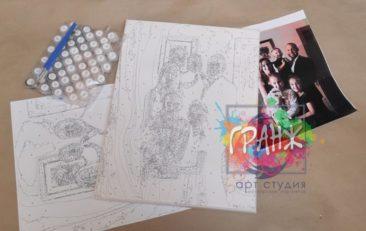 Картина по номерам по фото, портреты на холсте и дереве в Москве
